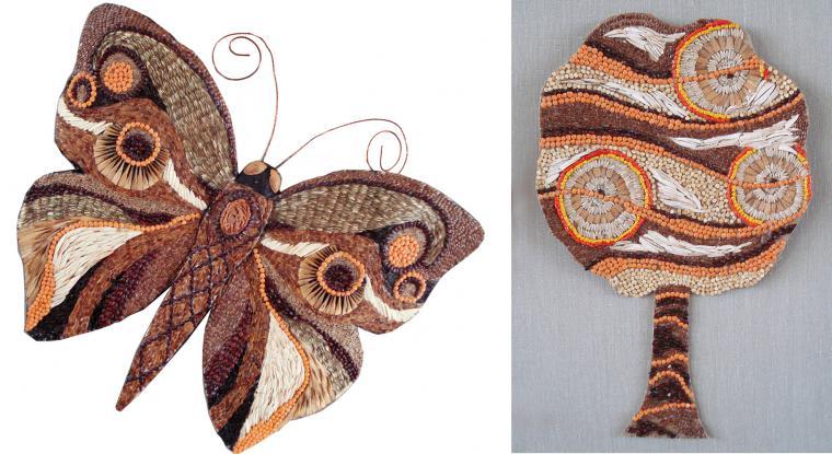 Mosaik Sereal Dan Biji Bijian Ringkasan Dari Kelas Master Mosaik Sereal Dan Pasta Panel Pola Oriental